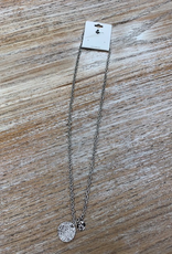 Jewelry Short Silver Coin Necklace