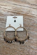 Jewelry Gold Circle Earrings w/ Dangles