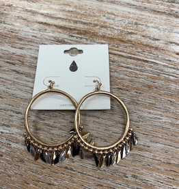 Jewelry Gold Circle Earrings w/ Dangles