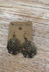 Jewelry Burnt Gold Design Earrings