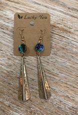 Jewelry Long Gold Dangle Earrings