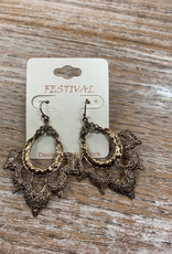 Jewelry Burnt Gold Fun Design Earrings