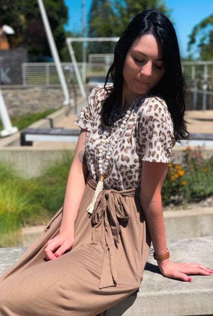 Dress Mocha Leopard Pocket Dress