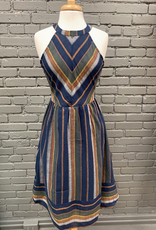 Dress Noelle Striped Halter Dress