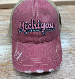 Hat Mauve Michigan Hat