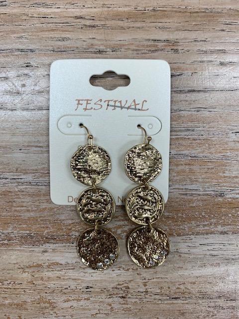 Jewelry 3 Gold Penny Earrings