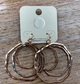 Jewelry Gold Silver Hoops Earrings