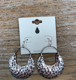 Jewelry Silver Hammered Earrings