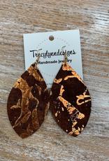 Jewelry TLD Bronze Flake Earrings