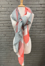 Scarf Gray, White Coral Blanket Scarf
