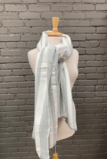 Scarf Gray, White Blanket Scarf
