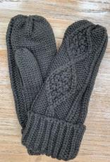 Gloves Olive Knit Mittens
