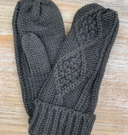 Gloves Olive Knit Mittens