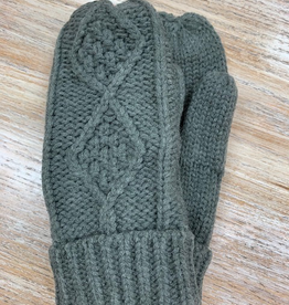Gloves Gray Knit Mittens