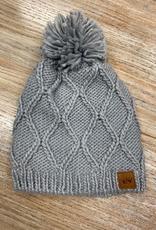 Beanie Light Gray Knit Beanie