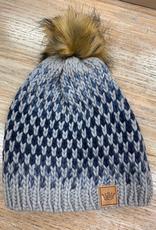 Beanie Blue Ombre Knit Beanie