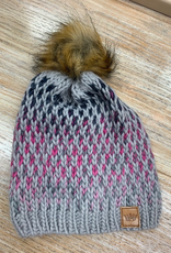 Beanie Pink Ombre Knit Beanie