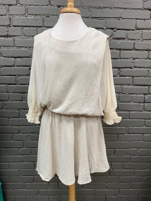 Dress Kayla LS Dress w/ Mesh Arms