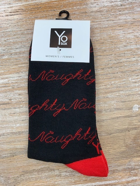 Socks Women's Crew Socks- Naughty Nice