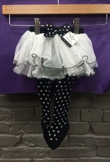 Kid's Black Polka Dot Baby Tutu Tights