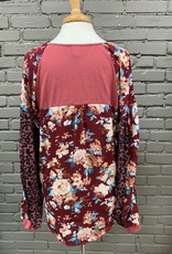 Long Sleeve Lucy LS Printed Puff Sleeve Top