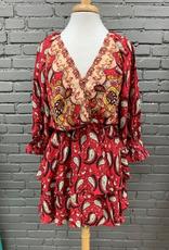 Dress Mindy Paisley Layered Dress