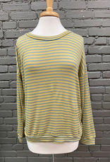 Long Sleeve Brenda LS Stripe Open Back