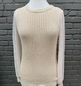Sweater Mandy Sheer Sleeve Sweater