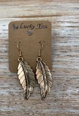 Jewelry Gold Leaf Earrings