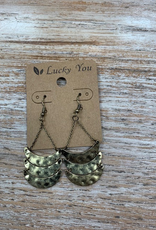 Jewelry Hammered Bronze Layer Earrings