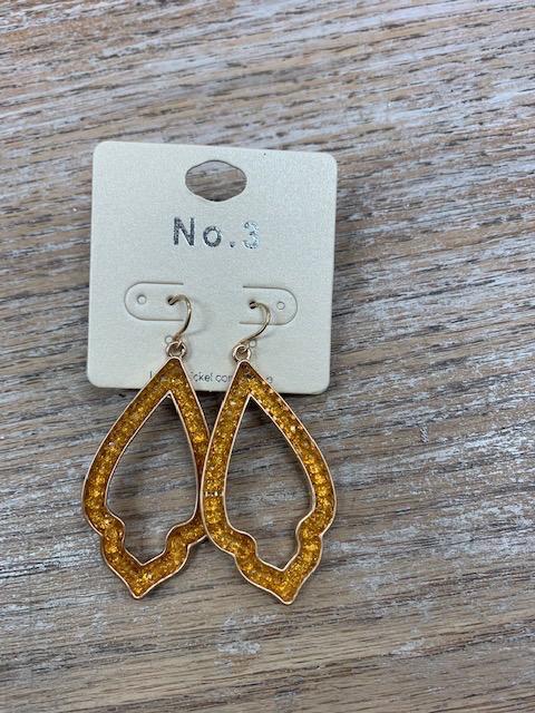 Jewelry Mustard Beaded Deisgn Earrings