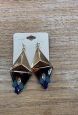 Jewelry Gold Tortise Gem Earrings