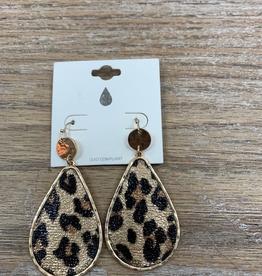 Jewelry Leopard Gold Dangle Earrings
