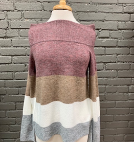Sweater Jackie Colorblock OTS Sweater