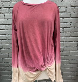 Long Sleeve Barb LS Ombre Twist Top