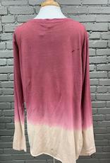 Long Sleeve Barb LS Ombre Twist Top