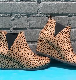 Shoes Cheetah Print Wedge Bootie