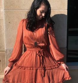 Dress Liz LS Dress w/ Smocked Waist