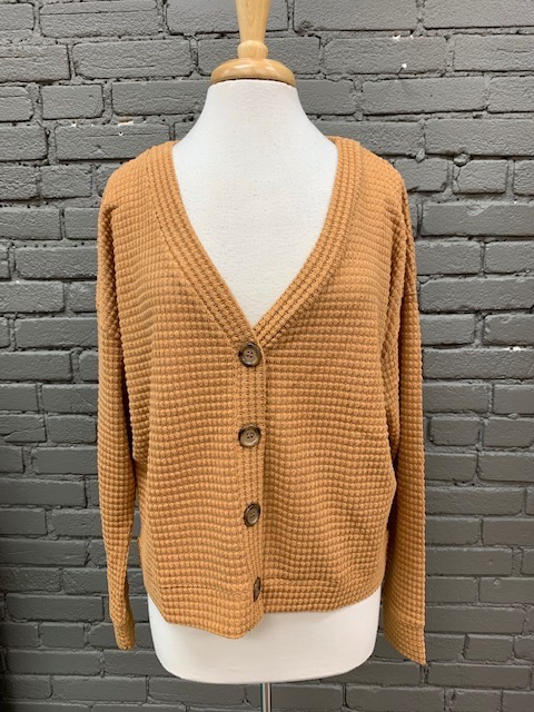 Top Brandy Button Down Waffle Top