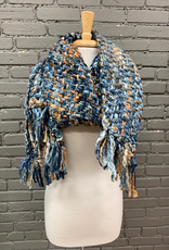 Scarf Blue, Browns Long Chunky Scarf
