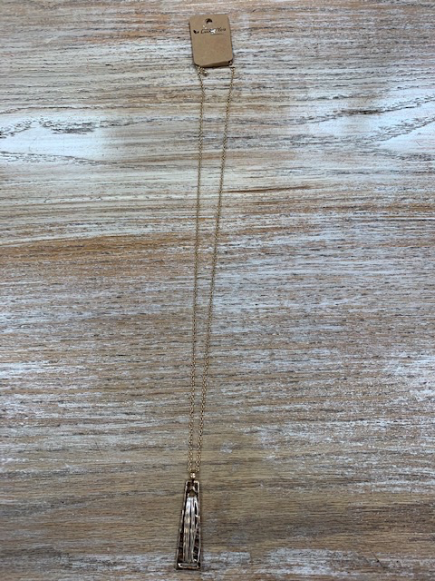 Jewelry Long Gold Pendant Silver Wire Necklace