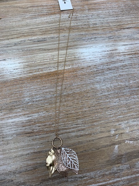 Jewelry Long Multi Leaf Necklace