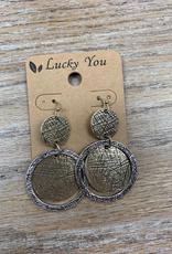 Jewelry Hammered Gold Silver Hoop Earrings