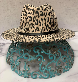 Hat Taylor Leopard Fedora