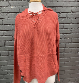 Sweater Alanna Sweater Hoodie W/ Button Detail