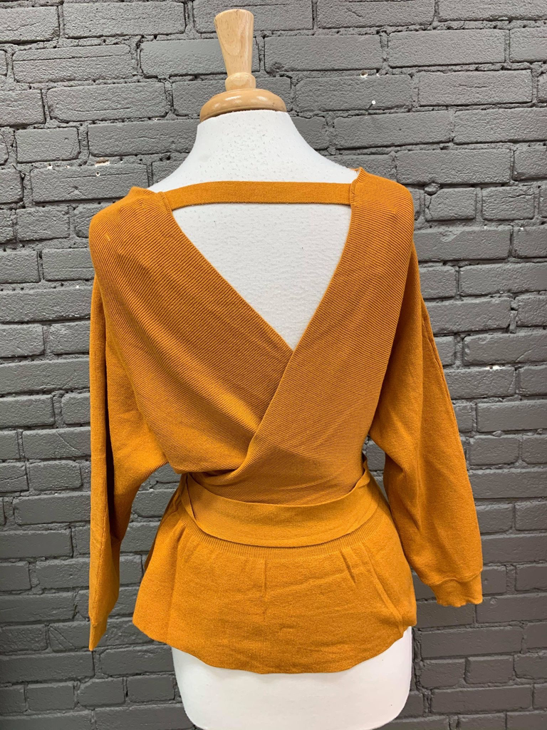 Sweater Lindsey Vneck Sweater W/ Tie Waist