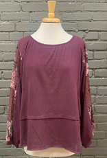 Long Sleeve Erika LS w/ Lace Detailed Sleeves