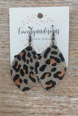 Jewelry TLD Glitter Cheetah Earrings