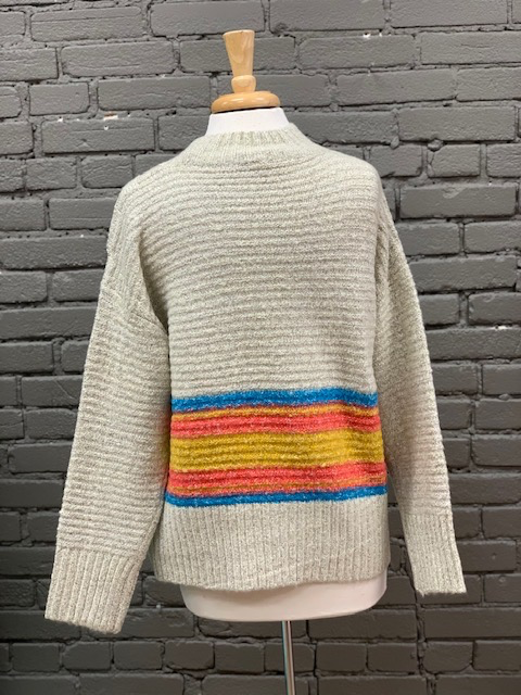 Sweater Lyla Bright Stripe Sweater