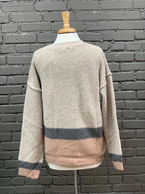 Sweater Tracy Striped Knit Sweater